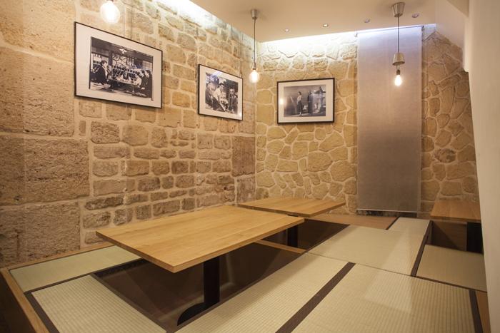 Salle à tatami de l'izakaya Isse